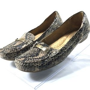 Naturalizer Comfort Loafers Flats Snake Print 9